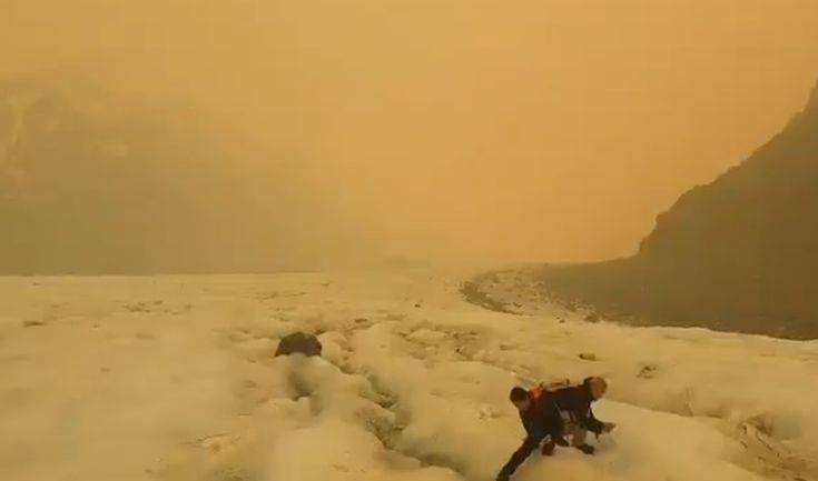 Οι πυρκαγιές στην Αυστραλία αλλάζουν το χρώμα στους παγετώνες