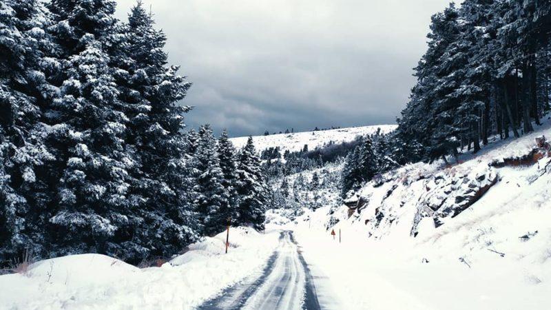 Χιονοβόλτα στον χιονισμένο Κίσσαβο (φωτογραφίες)
