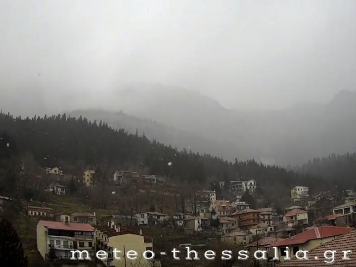 Timelapse βίντεο απο την σημερινή χιονόπτωση στην Ελάτη Τρικάλων