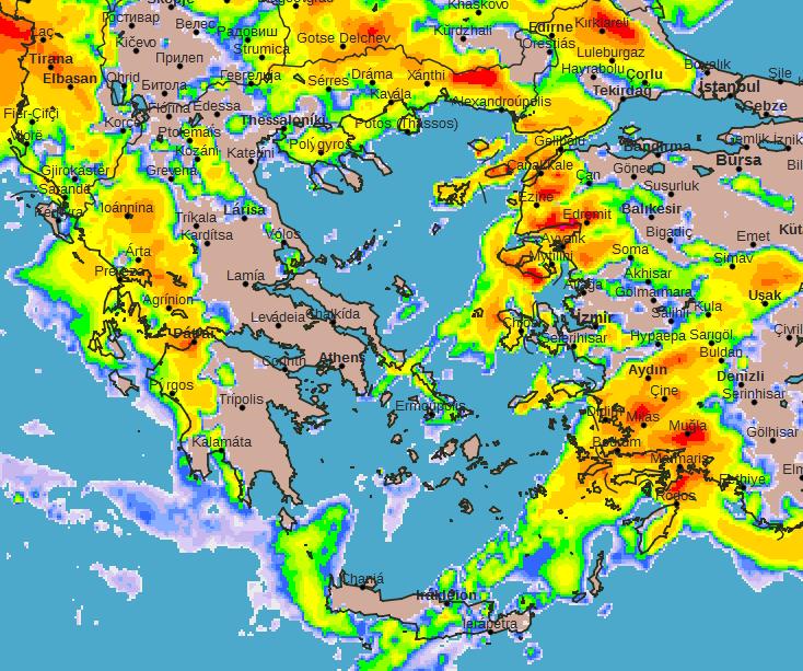 Πρόγνωση Θεσσαλίας και Σποράδων 27-28/2/20 Λίγες επιλεκτικές βροχές την Πέμπτη και λίγα χιόνια στα ορεινά με γρήγορη βελτίωση