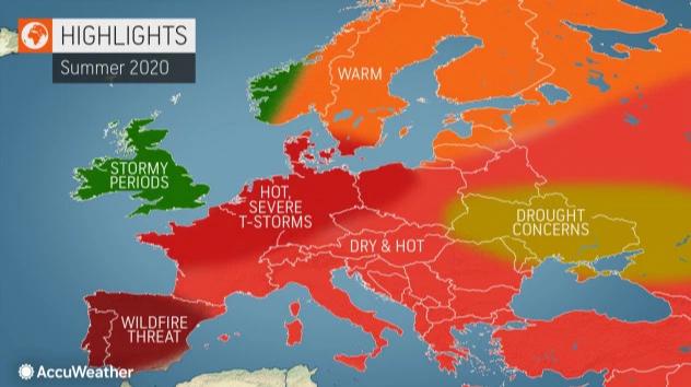 Θερμό και ξηρό καλοκαίρι εκτιμούν οι Αμερικανοί
