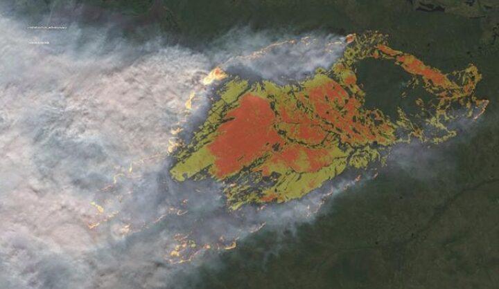 Πυρκαγιά στον πολικό κύκλο της Σιβηρίας