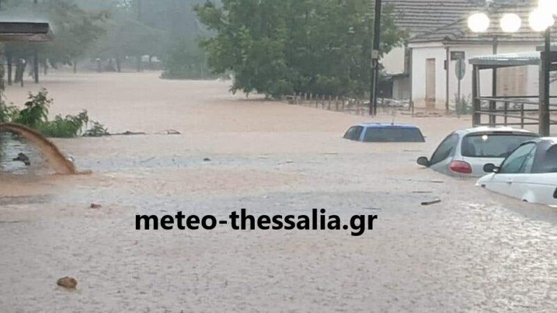 Σοβαρές πλημμύρες στα Φάρσαλα (αποκλειστικές φωτό+βίντεο)