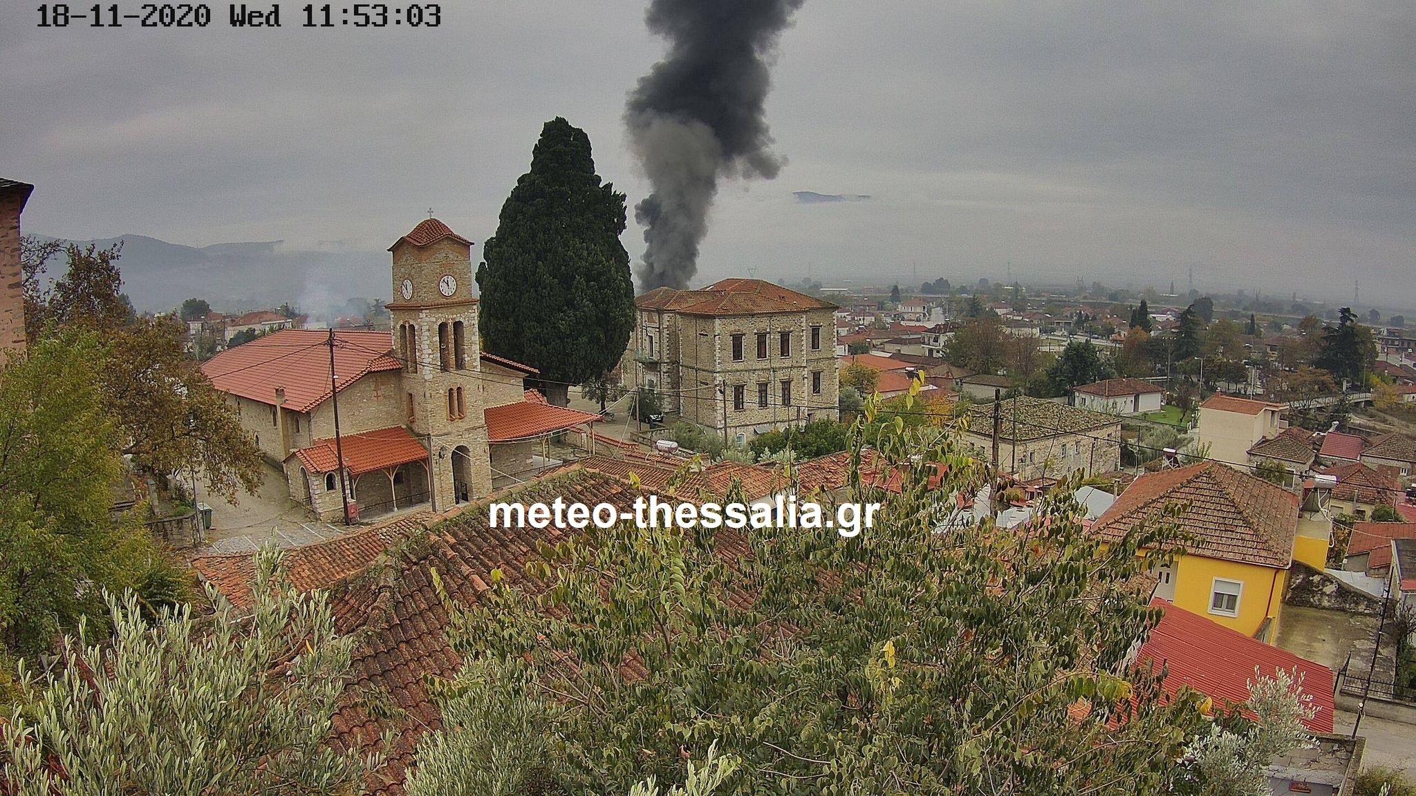 Φωτιά σε οικία στην Τσαριτσάνη (βίντεο)