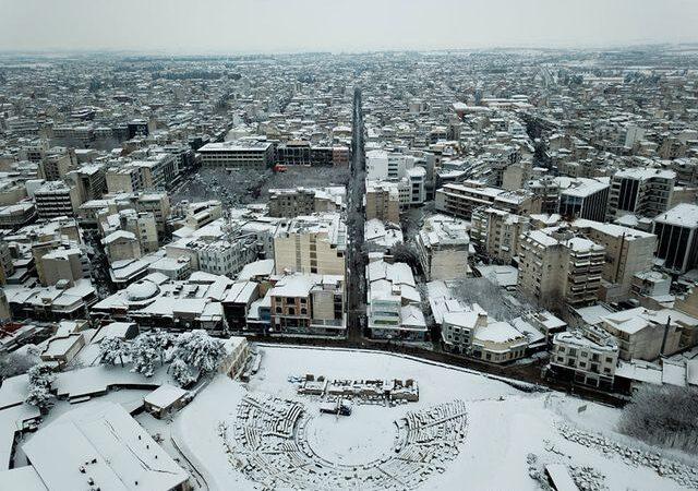 Ο χιονιάς στη Θεσσαλία (φωτογραφίες)