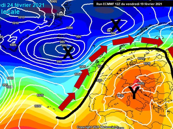 Ωμέγα εμποδιστής πάνω απο την Ευρώπη φέρνει ανοιξιάτικο καιρό (+χάρτης)