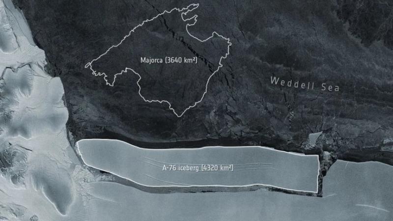 Το μεγαλύτερο παγόβουνο του κόσμου αποκολλήθηκε από παγετώνα στην Ανταρκτική